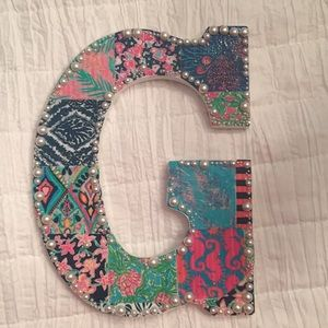 G Lilly Pulitzer inspired Wooden Letter Hanging
